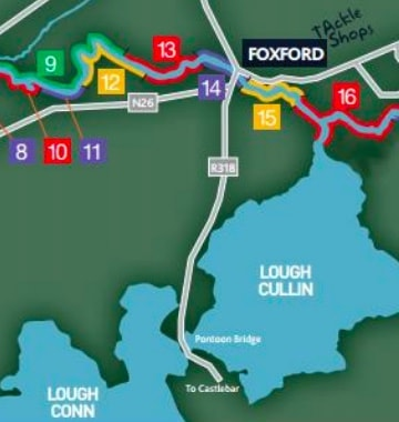River Moy Fishing Map